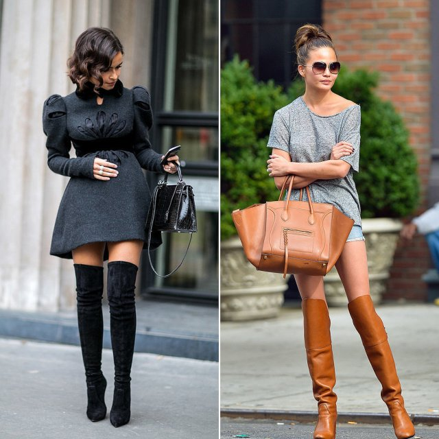 How-To-Wear-Over-The-Knee-Boots-With-Heels-2015