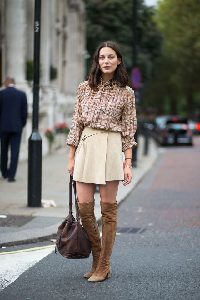 Stylish-Street-Styler-with-Suede-Over-the-Knee-Boots